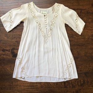 Cleobella beige tunic dress